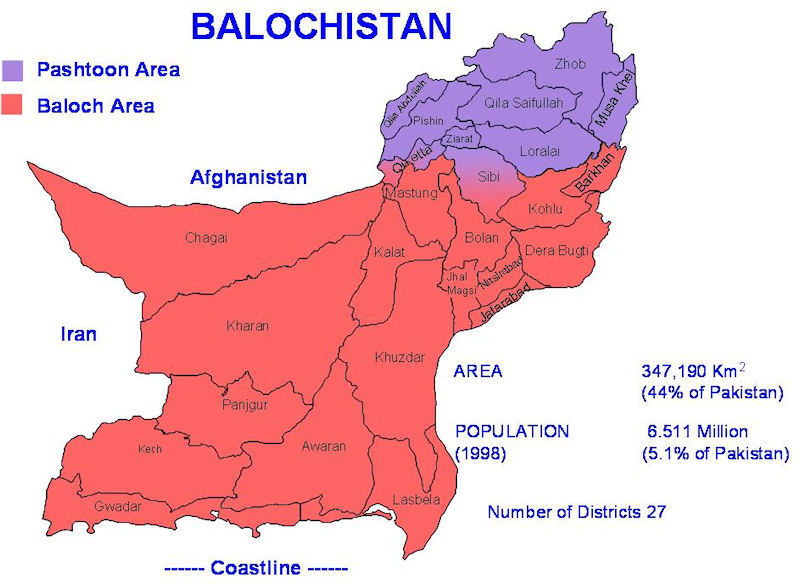 20 Pakistan Balochistan 1947 present