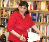 Author at book signing