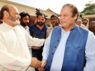 Mumtaz with former Prime Minister Nawaz Sharif (Credit: nation.com.pk)