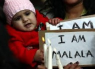 London demonstration for Malala (Credit: malala_huffingtonpost.co.uk)