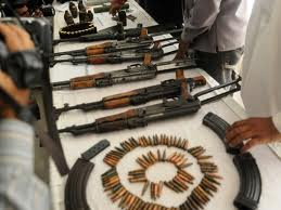 Guns & Bullets Seized in Pakistan (Credit: tribune.com.pk)