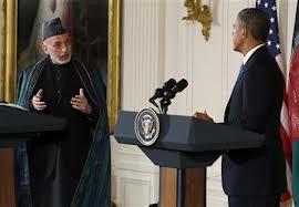 Karzai Obama meeting (Credit: news.yahoo.com)