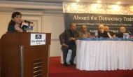 ATDT author at Islamabad book launch (Credit: Strengthening Participatory Organization)