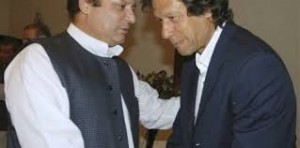 Nawaz Sharif with Imran Khan (Credit: Pakistan.com.pk)