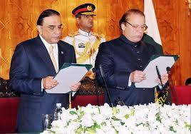 Nawaz Sharif takes oath (Credit: online.com.pk)