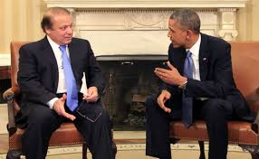 Pak PM with US President (Credit: McClatchy.com)