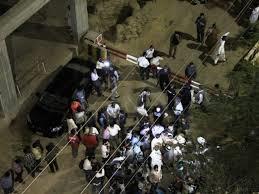 Express Tribune office attacked (Credit: expresstribune.com)