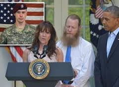 Bergdhal (inset) with parents & Obama (Credit: nydailynews.com)