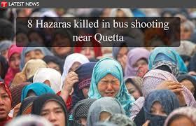Hazaras mourn bus attack (Credit: twitter.com)