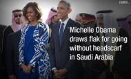 Michelle Obama in Saudi Arabia (Credit: facebook.com)
