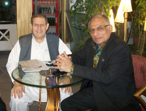 Late Warren Weinstein with Pakistani businessman, Majyd Aziz