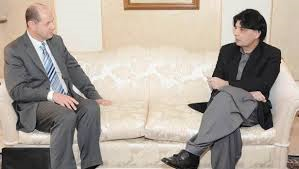 Ch Nisar meets UK High Commissioner (Credit: breakingnewspak.com)