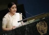 India External Affairs Minister Sushma Swaraj (Credit: reuters.com)