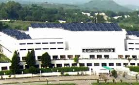 Solar panels on Pak parliament (Credit: mag.com)