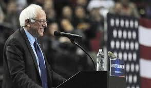 'Bird of peace' visits Bernie rally (Credit: nydailynews.com)