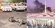 Blast in Madina parking lot (Credit: siasat.com)