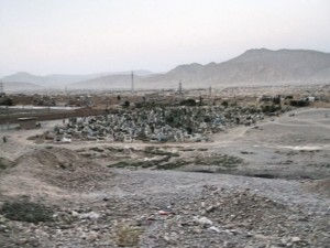 Graveyard in outskirts of Quetta_Fotor